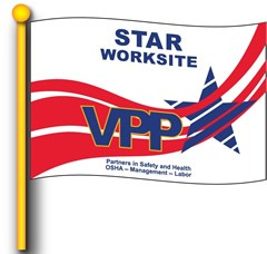 VPP Star Worksite Flag 4' x 6'