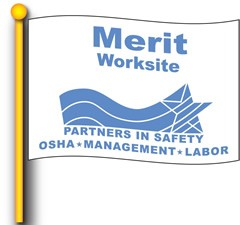 Merit Worksite Flag 4 'x 6' Single Sided